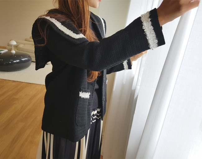 helloyoonsoo-글로리 세라카라 자켓♡韓國女裝外套