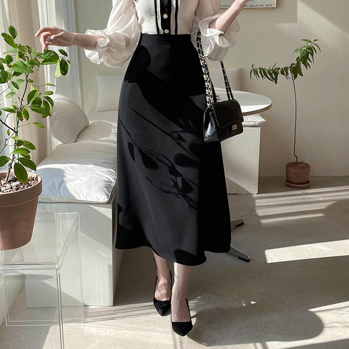 myfiona-브린 A라인 밴딩 훌 롱스커트 a1833 - 러블리 로맨틱 1위 쇼핑몰 피오나♡韓國女裝裙