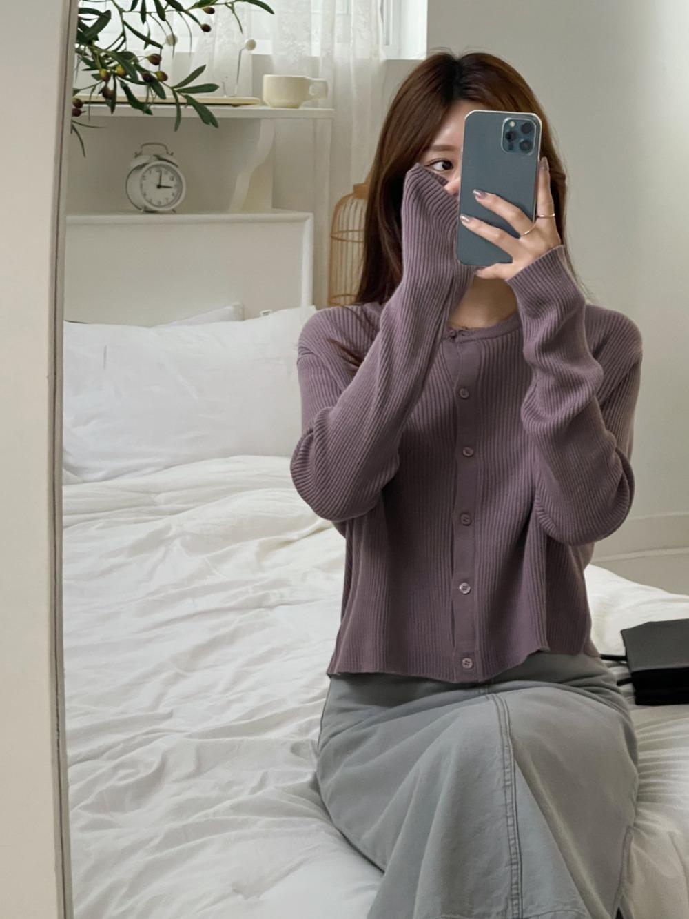 k-club-[기획특가]미라렌 골지 니트 가디건♡韓國女裝外套