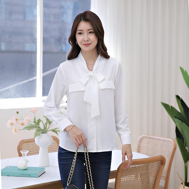 tiramisu-346가슴덮개리본끈쉬폰블라우스♡韓國女裝上衣