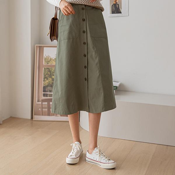 canmart-[베리버튼스커트 C091332]♡韓國女裝裙