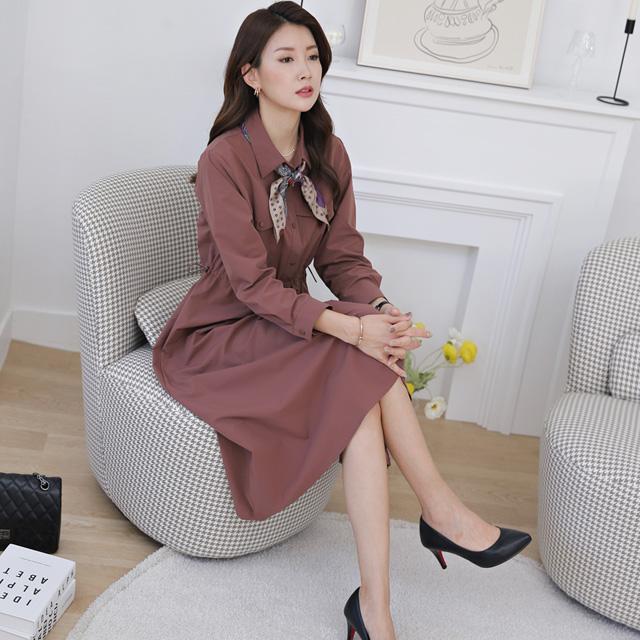 tiramisu-340낭만셔츠형원피스♡韓國女裝連身裙