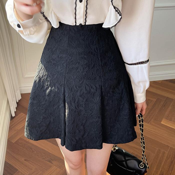 myfiona-자가드플라워 6쪽 스커트 a1829 - 러블리 로맨틱 1위 쇼핑몰 피오나♡韓國女裝裙