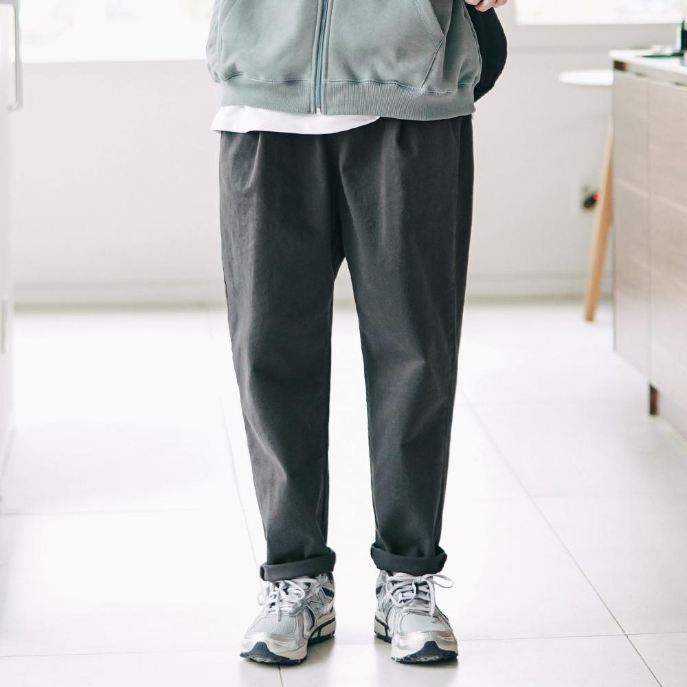 fairplay142-[디어 소프트 워싱 밴딩팬츠 차콜 KJLP2392]♡韓國男裝褲子