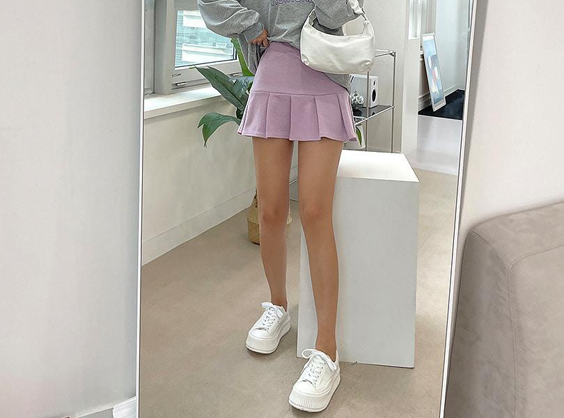 uuzone-밴딩으로 편하면서 걸리쉬한 무드! 아이키스커트 캐주얼 미니 무지 데일리 섹시 클럽 밴딩스커트 미니스커트 테니스스커트 데일리스커트♡韓國女裝裙