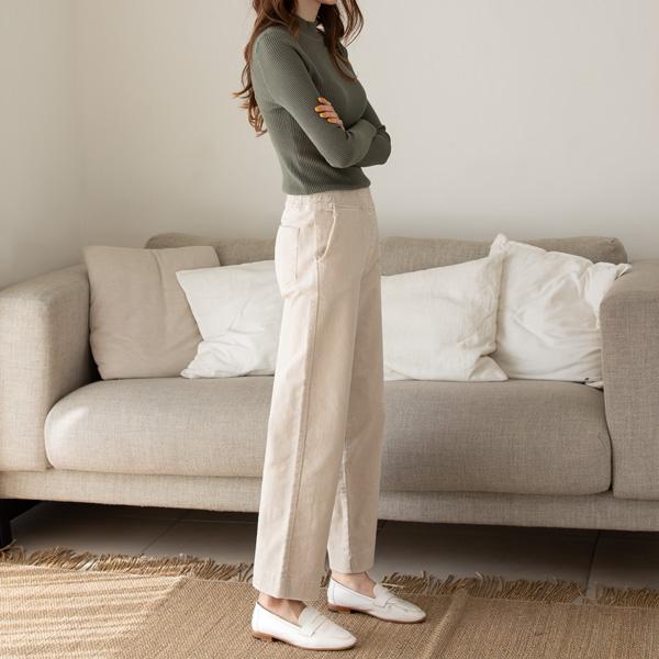 misscandy-[no.17988 넓은밴딩 와이드핏 코듀로이팬츠]♡韓國女裝褲