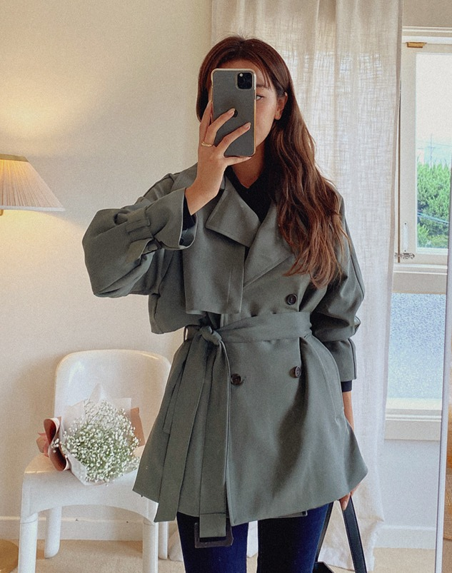 loloten-브릿 하프 트렌치 코트♡韓國女裝外套