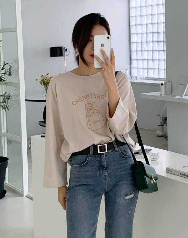 loloten-허니브레드 티셔츠♡韓國女裝上衣
