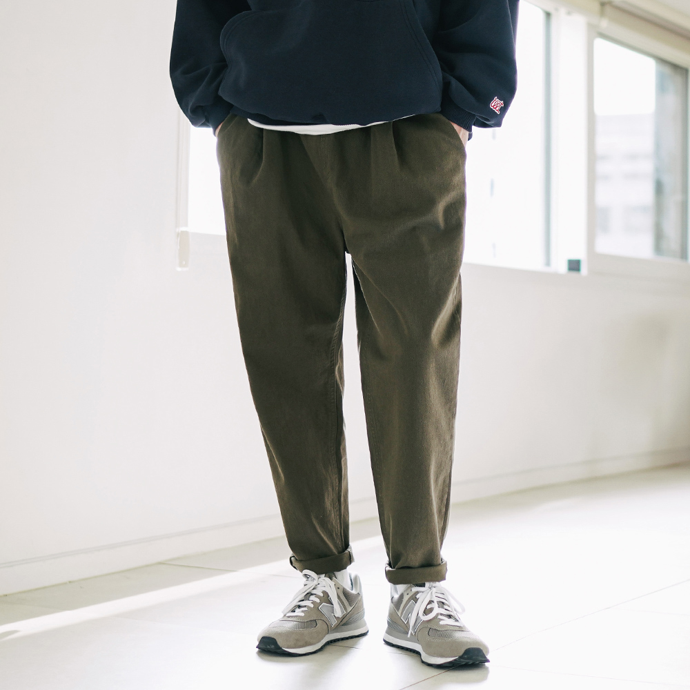 fairplay142-[디어 소프트 워싱 밴딩팬츠 더스티카키 KJLP2392]♡韓國男裝褲子