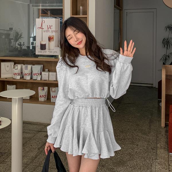 planj-루이스 크롭 맨투맨♡韓國女裝上衣