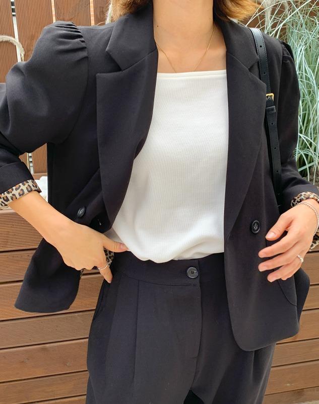 loloten-알로 호피안감 크롭자켓♡韓國女裝外套