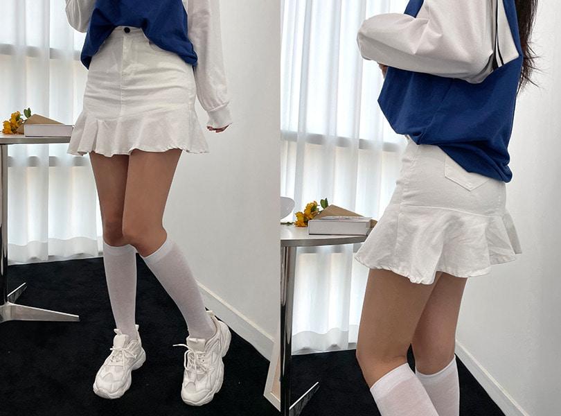 uuzone-쫀쫀해 편한 러블리무드 미니스커트! 에스파스커트 스커트 미니스커트 프릴스커트 훌스커트 섹시스커트 데일리스커트 데일리룩 데이트룩♡韓國女裝裙
