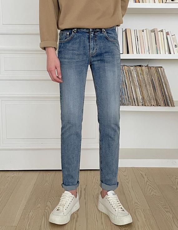 jogunshop-[러플린 슬림 컷팅진S~XL(28~34)]♡韓國男裝褲子