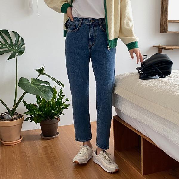 realcoco-♥NEW10%할인♥로체 일자 데님팬츠(데일리/꾸안꾸)♡韓國女裝褲