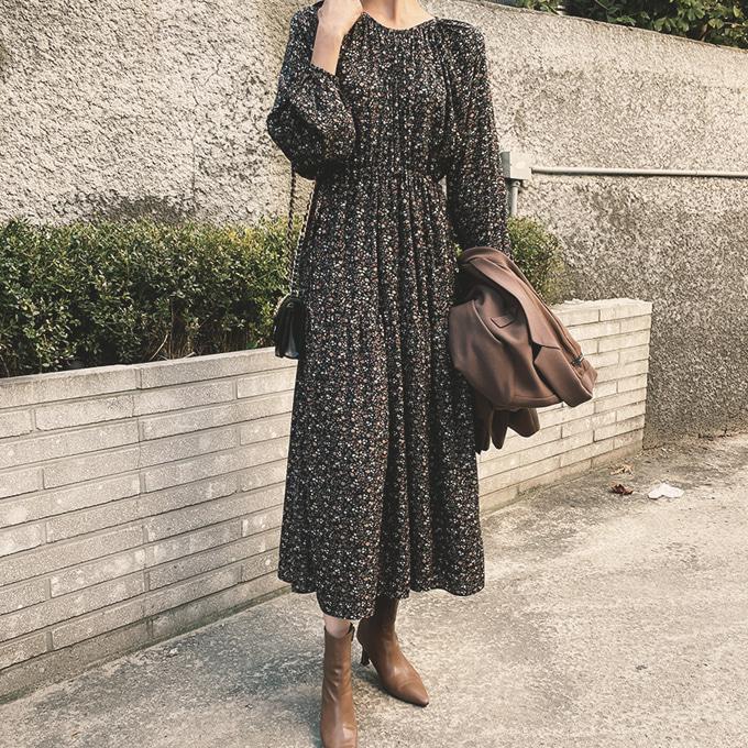 wingsmall-파보스(스트링잔꽃원피스)♡韓國女裝連身裙