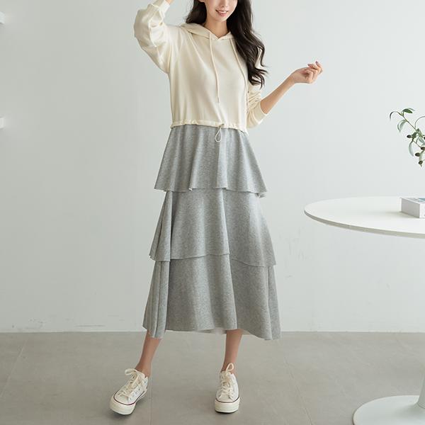 canmart-[마리후드캉캉원피스 C090945]♡韓國女裝連身裙