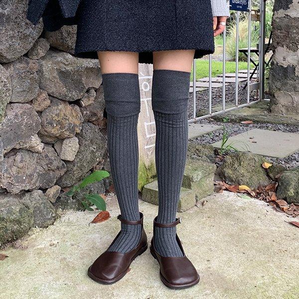 browncode-golgi over knee socks(set)♡韓國女裝飾品