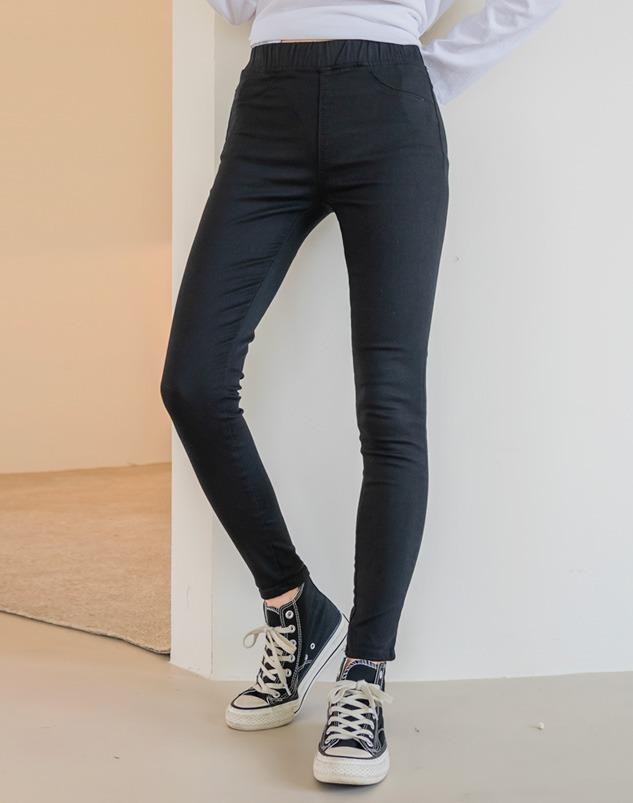 loloten-큐츠 밴딩스키니팬츠♡韓國女裝褲