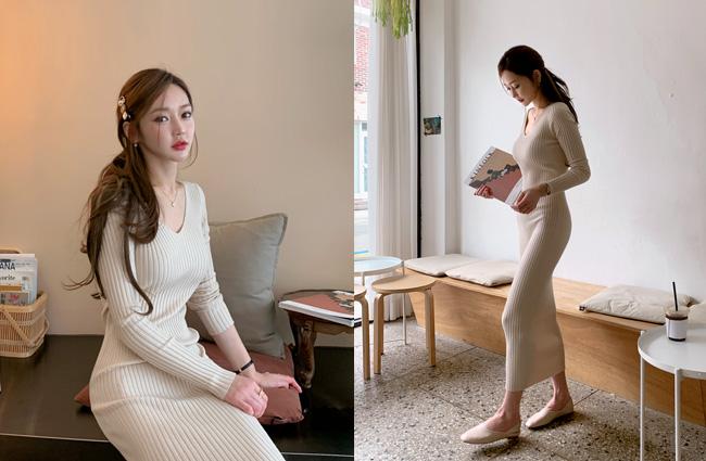 minsshop-퍼펙 실루엣 니트원피스 (주문대박♥)♡韓國女裝連身裙