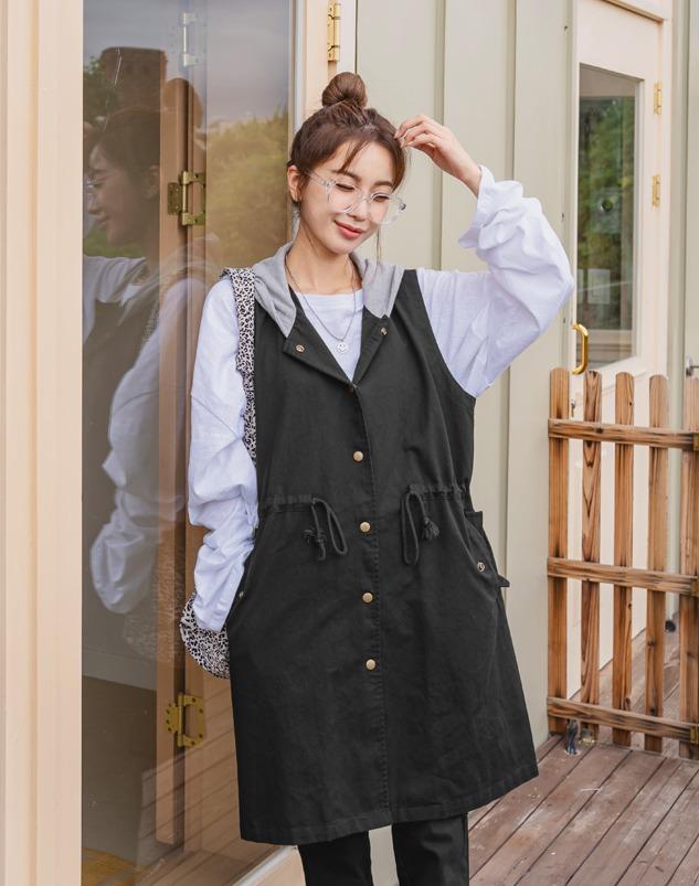 loloten-미라드 베스트조끼♡韓國女裝外套