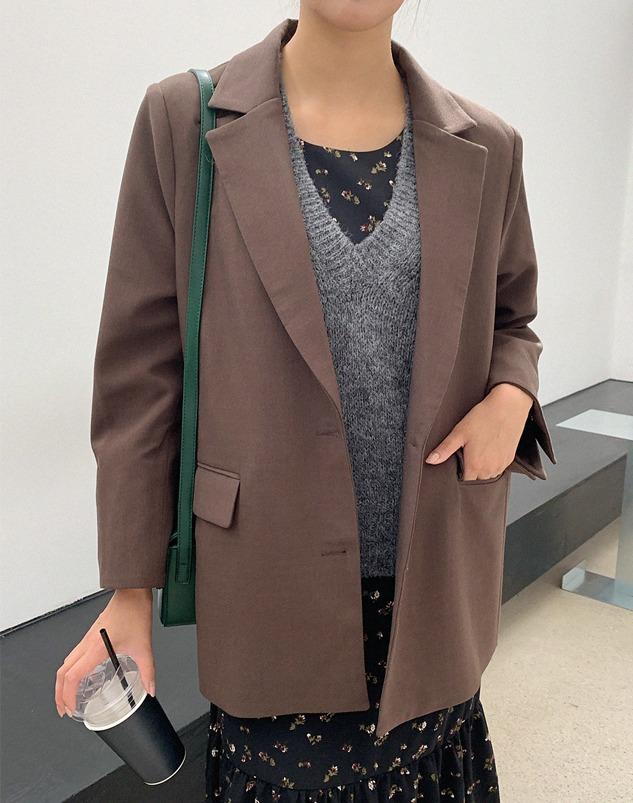 loloten-라이논 오버싱글자켓♡韓國女裝外套