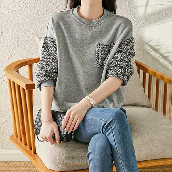 fashion-full-메티스 트위드 맨투맨(TIME SALE 20%)♡韓國女裝上衣