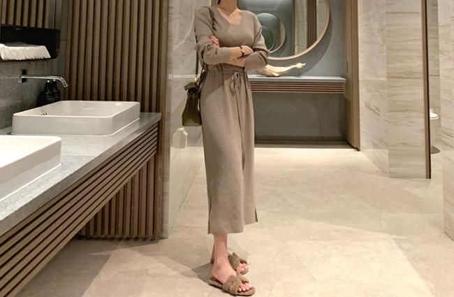 minsshop-허리터널 니트원피스(주문폭주!)♡韓國女裝連身裙