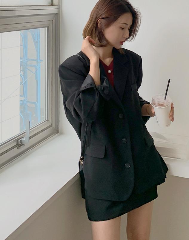 loloten-레딧미 숄더패드자켓♡韓國女裝外套