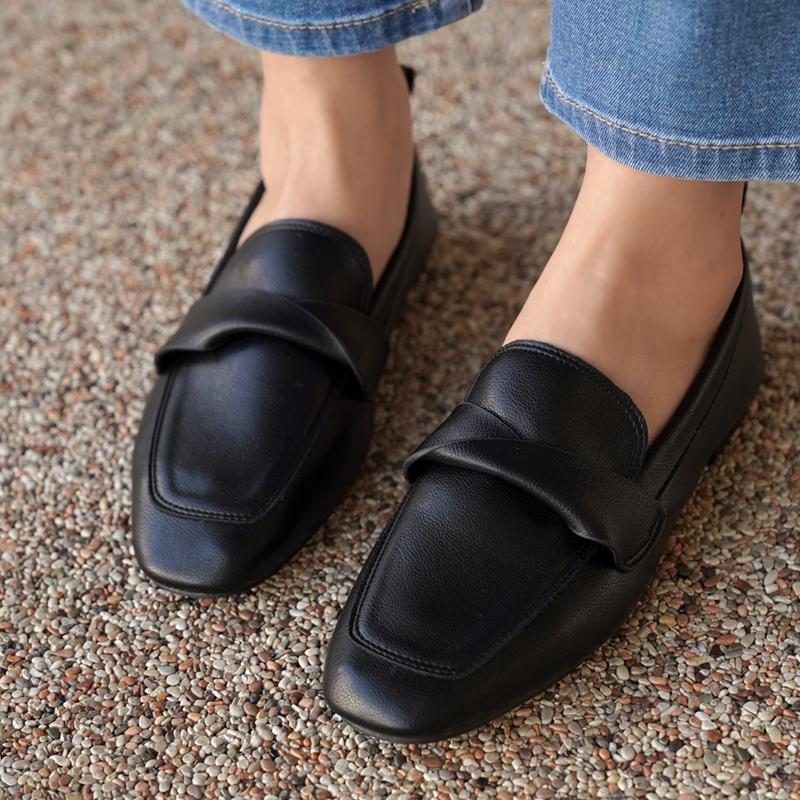 clicknfunny-벨킷 꼬임로퍼♡韓國女裝鞋