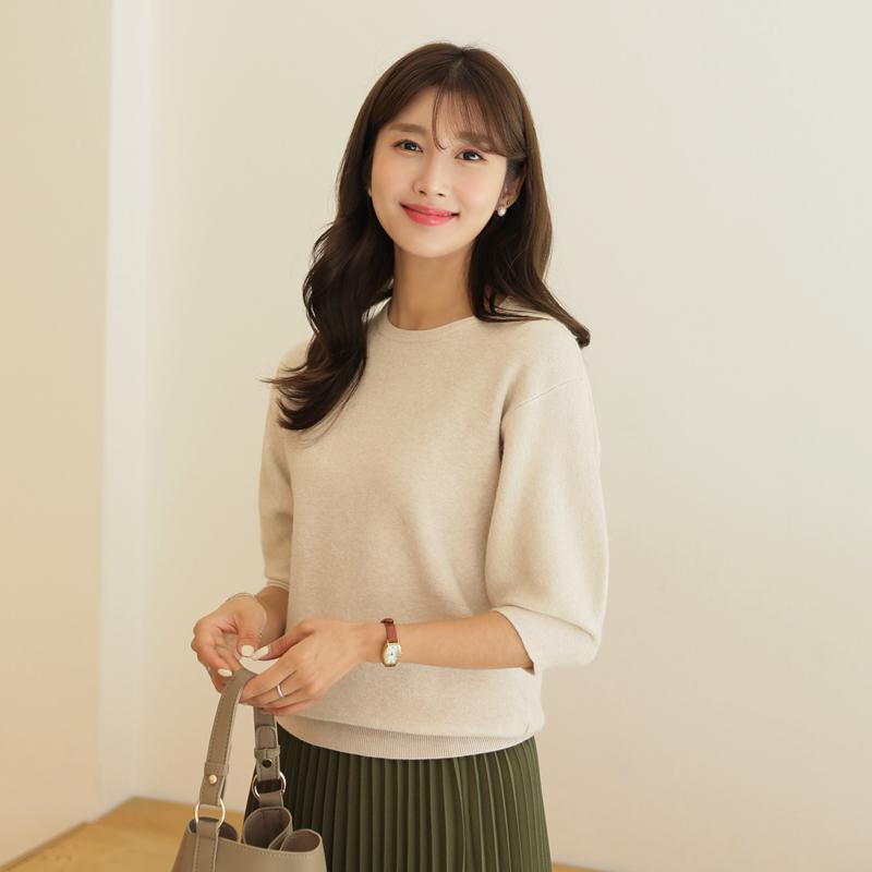 clicknfunny-마멜린 퍼프니트♡韓國女裝上衣