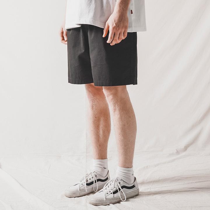 fairplay142-[[더블유브이프로젝트]밀레니얼 밴딩 숏팬츠 블랙 CJSP7495]♡韓國男裝褲子