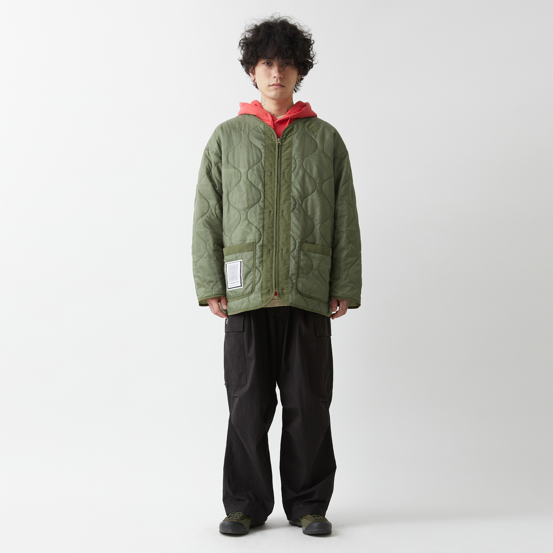 layer-LMC QUILTED LINER JACKET olive♡韓國男裝外套