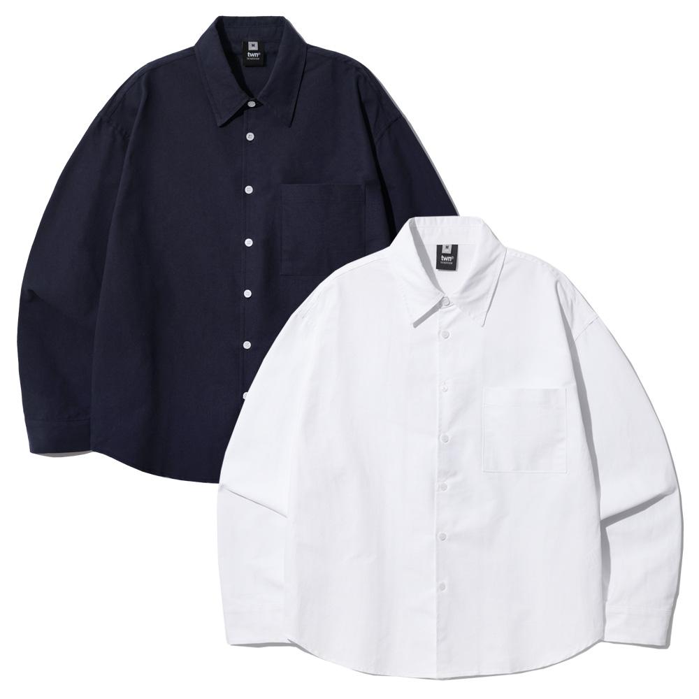 fairplay142-[[10/1배송][티떠블유엔] [패키지] 옥스포드 벌룬핏 셔츠 3종 2PACK SHLS3404]♡韓國男裝上衣