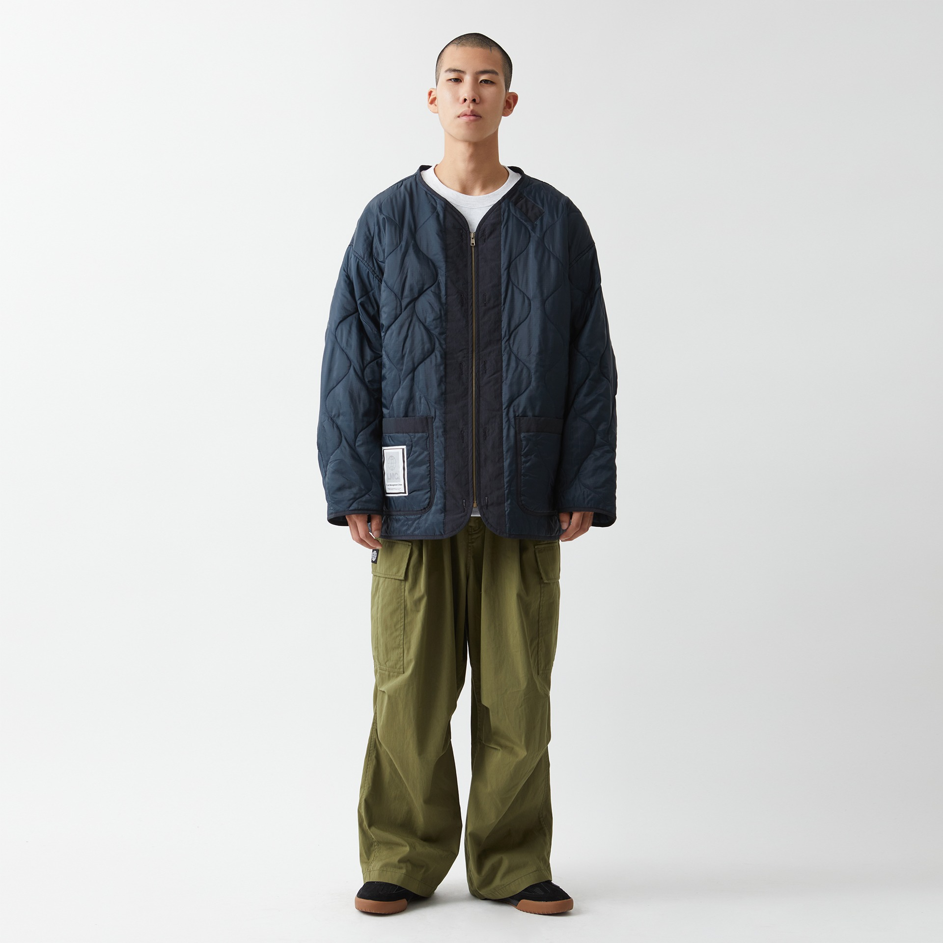 layer-LMC QUILTED LINER JACKET navy♡韓國男裝外套