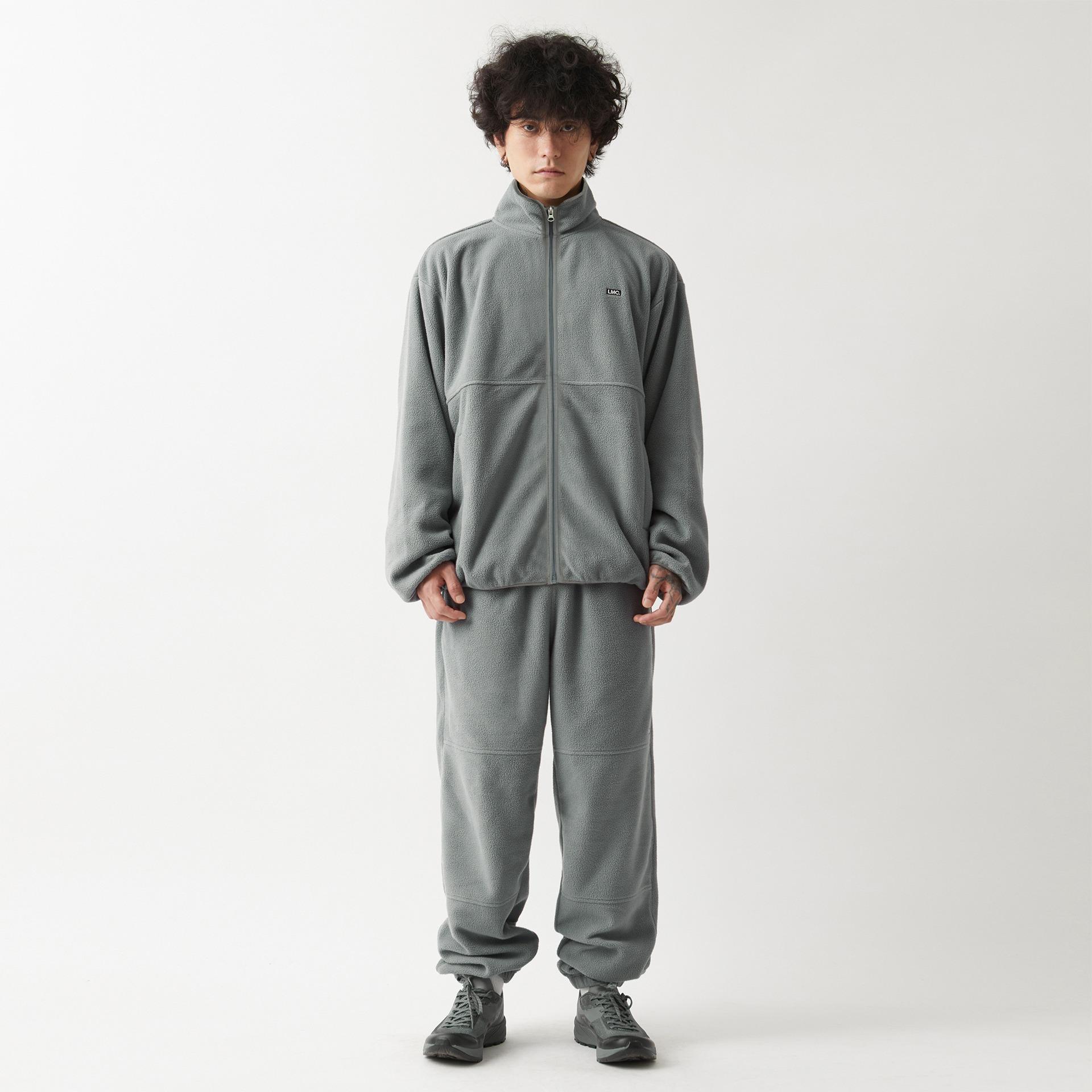layer-LMC FLEECE TEAM JACKET gray♡韓國男裝外套