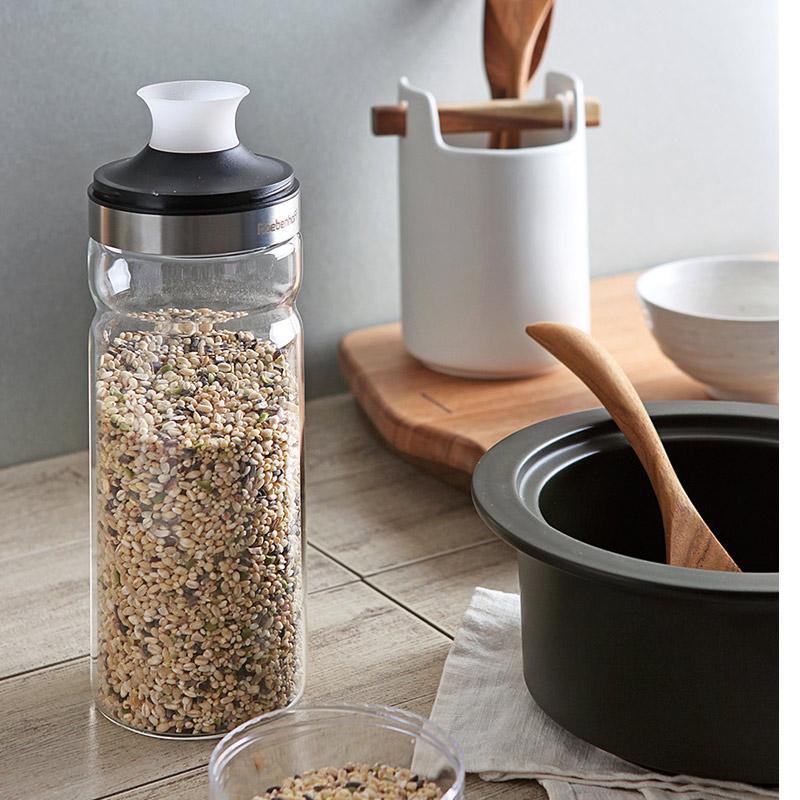 cozycotton-Rebenhof 耐熱玻璃密封儲糧瓶 1100ml]♡韓國家品廚具