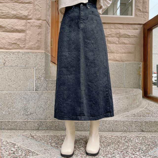 banharu-반하루[그랜 보카시 데님롱스커트]♡韓國女裝裙