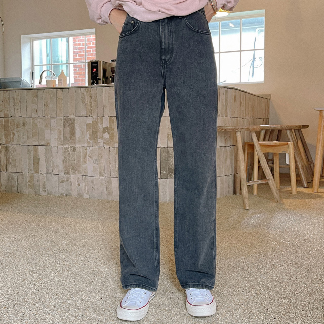 banharu-반하루[어반 와이드핏 블랙진]♡韓國女裝褲