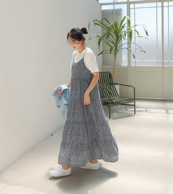 roompacker-룸페커 [힐츠 티어드 레이온 원피스]♡韓國女裝連身裙
