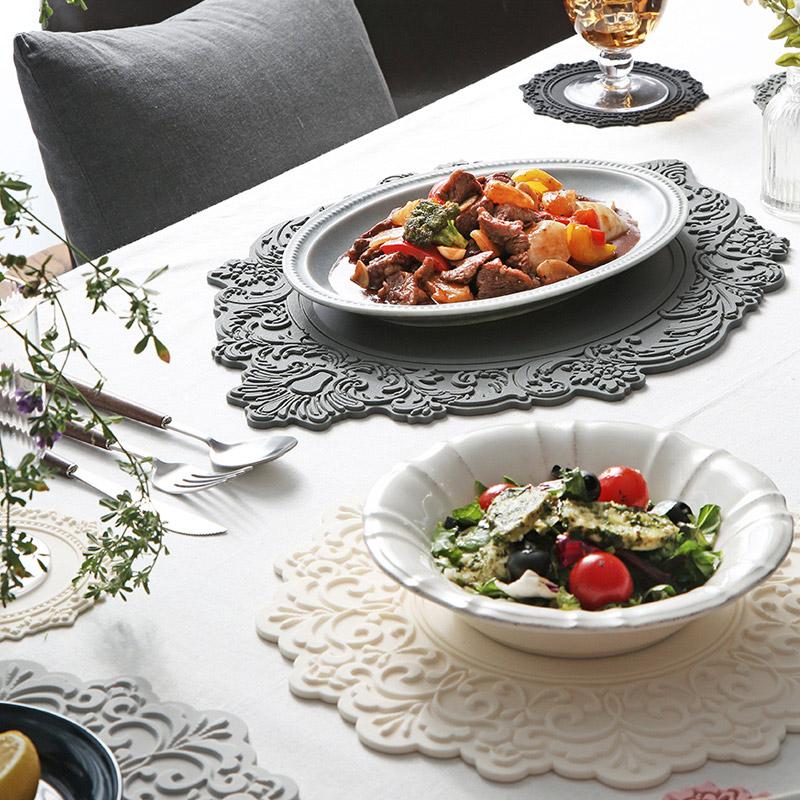 cozycotton-Amelia Plate矽膠桌墊(橢圓形)♡韓國家品廚具