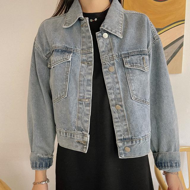 banharu-반하루[에이트 세미크롭 데님자켓]♡韓國女裝外套