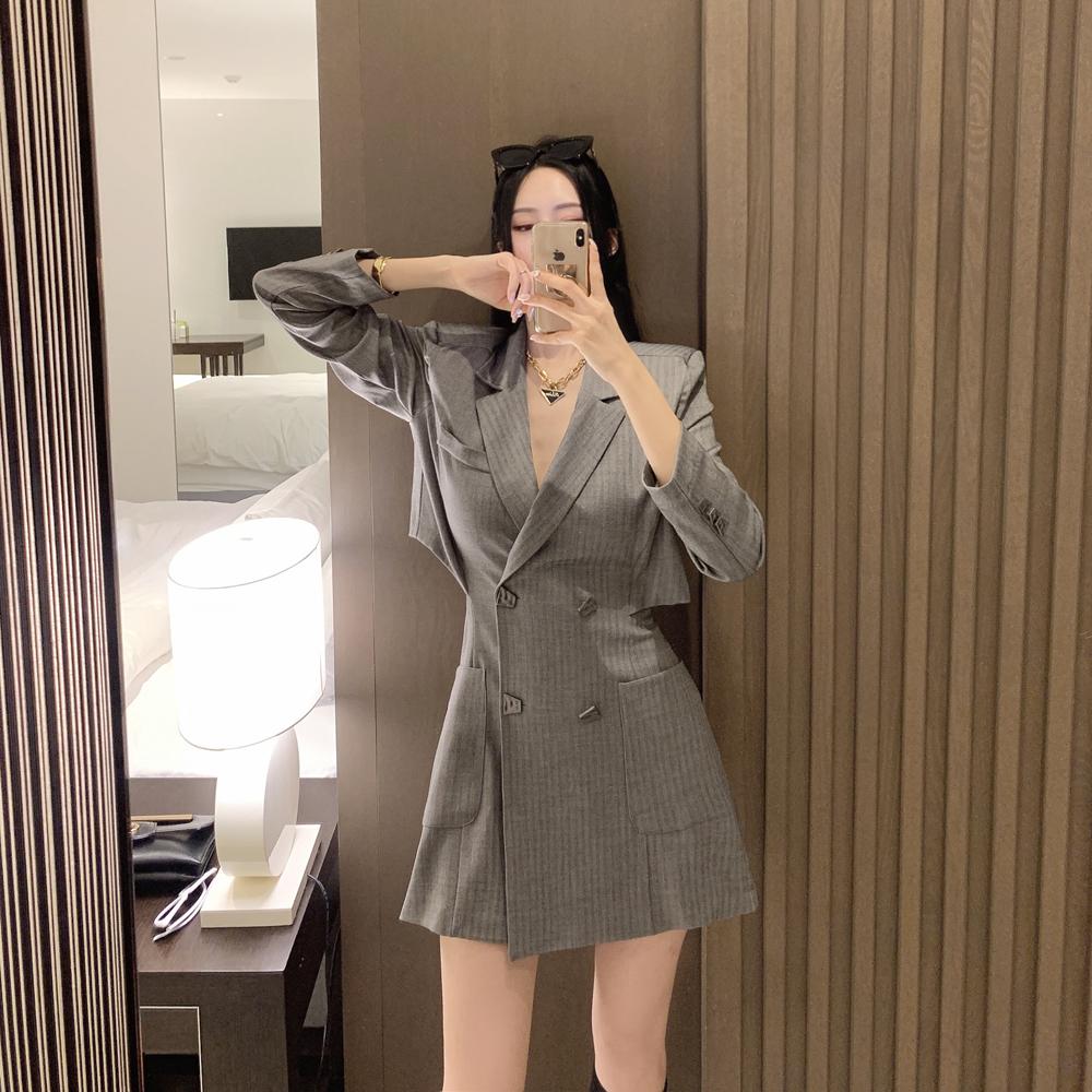 uinme-메리 오브제 자켓원피스 - [ 2color ] - 유인미메리 오브제 자켓원피스 - [ 2color ] - 유인미♡韓國女裝連身裙