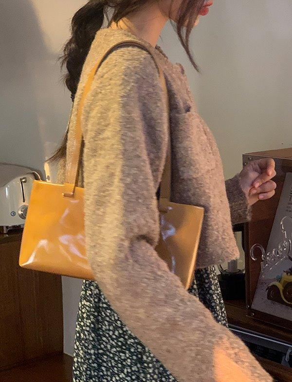 browncode-cozy crop cardigan♡韓國女裝外套