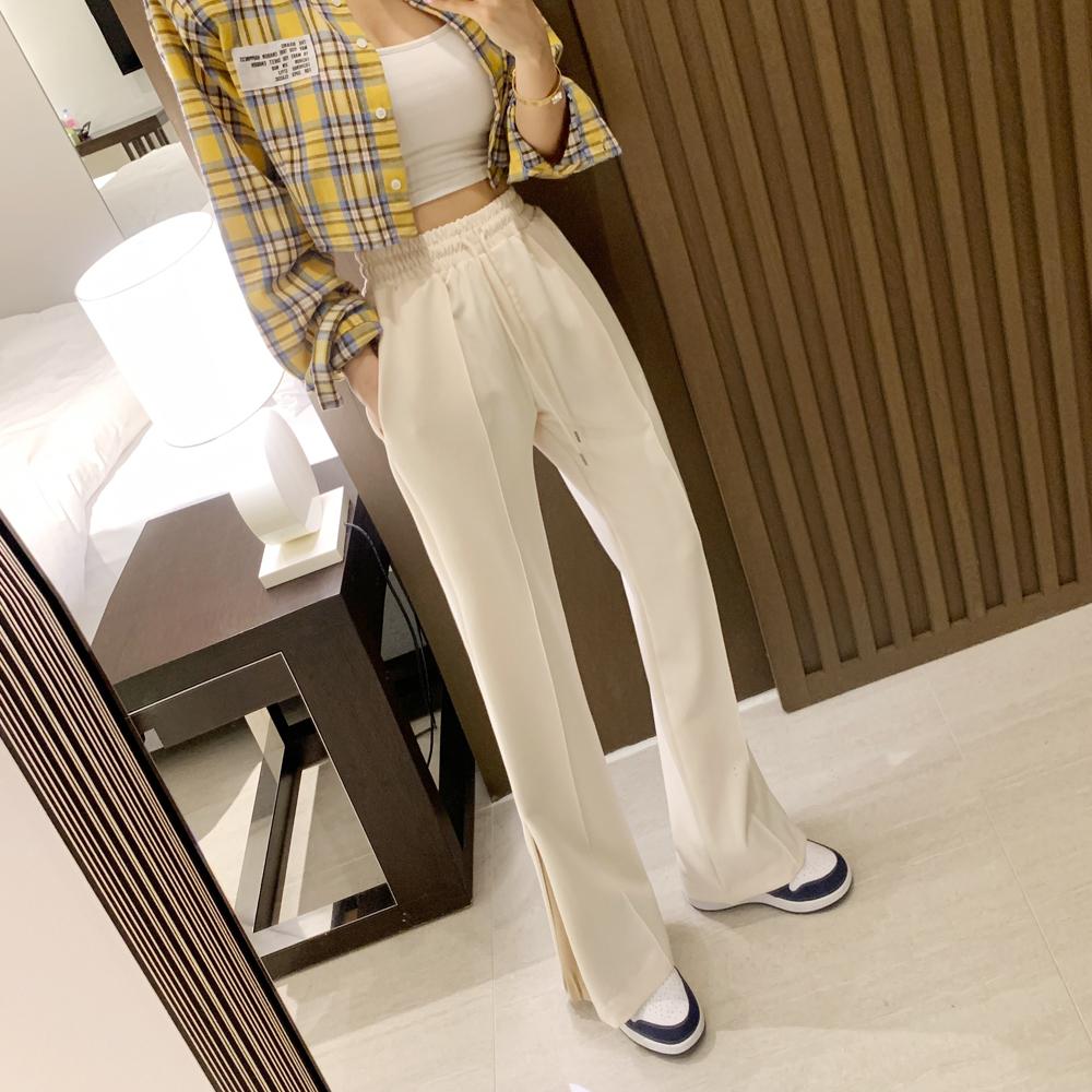 uinme-이지 트임 프리 팬츠 - [ 2color ] - 유인미이지 트임 프리 팬츠 - [ 2color ] - 유인미♡韓國女裝褲