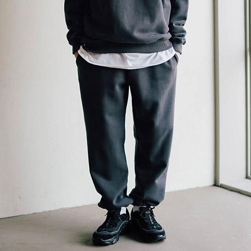 fairplay142-[[페플] 렉스 와이드 스웨트 팬츠 차콜 KHLP1304]♡韓國男裝褲子