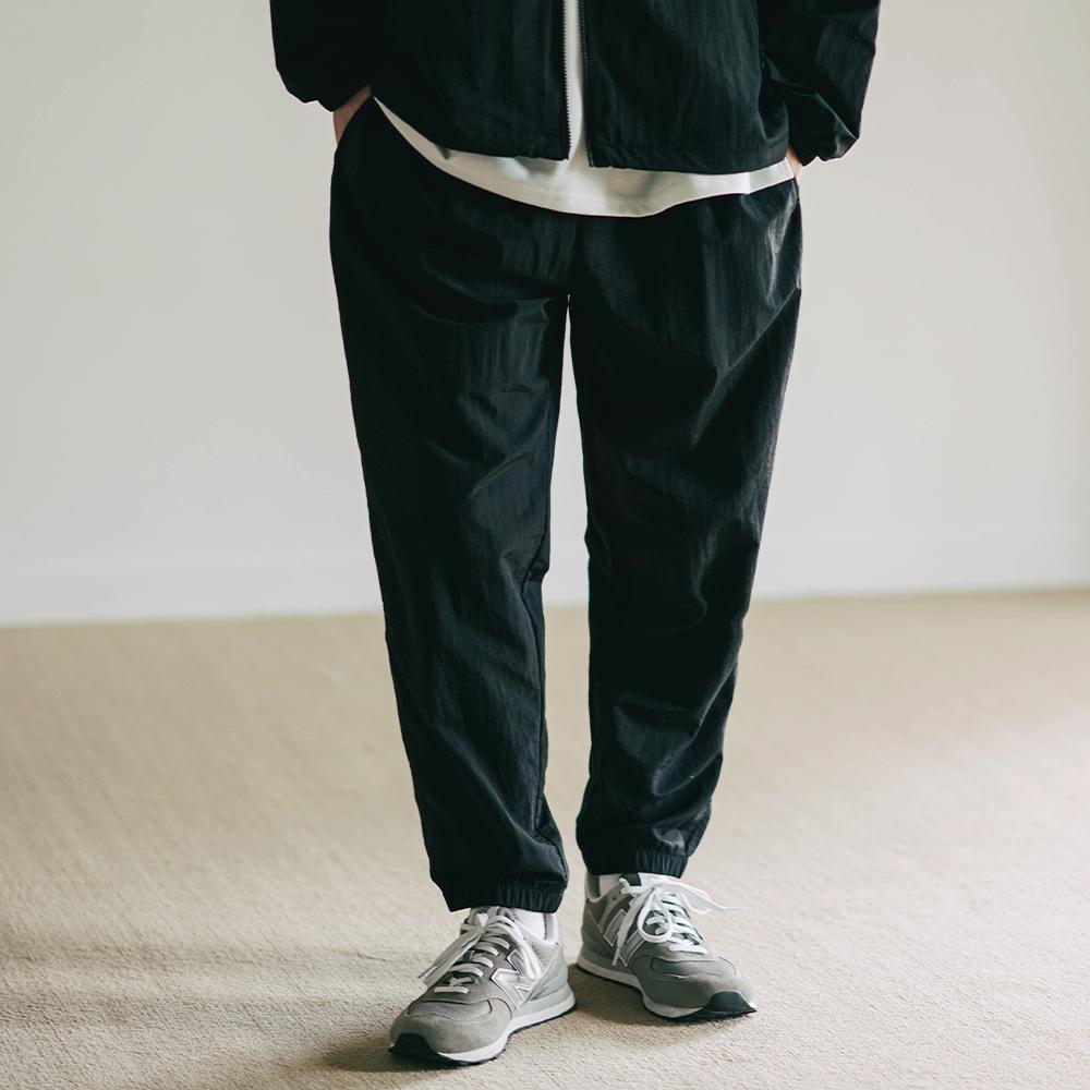 fairplay142-[스퀘어 밴딩 조거팬츠 블랙 YHLP2372]♡韓國男裝褲子