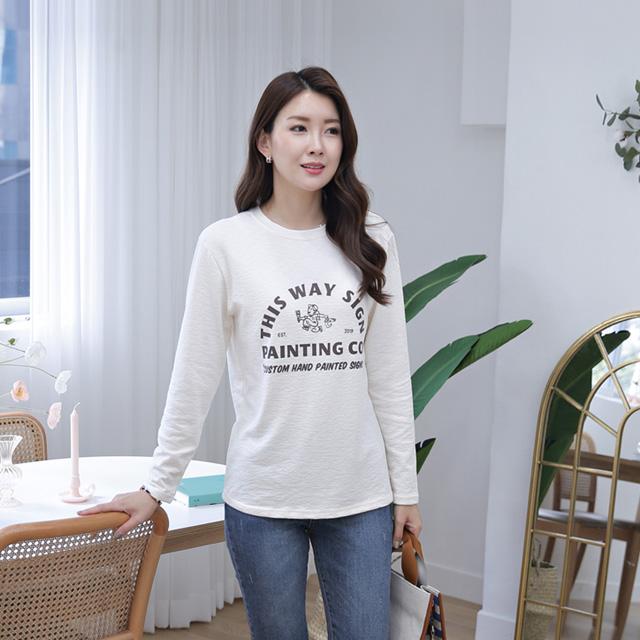 tiramisu-362존스영문페인팅티♡韓國女裝上衣