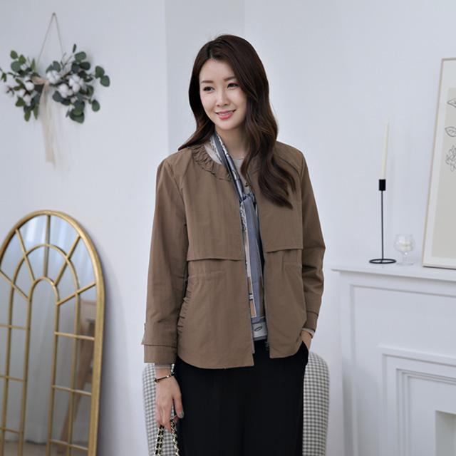 tiramisu-369넥프릴포인트점퍼♡韓國女裝外套