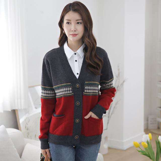 tiramisu-365페이즐포인트나염가디건♡韓國女裝外套