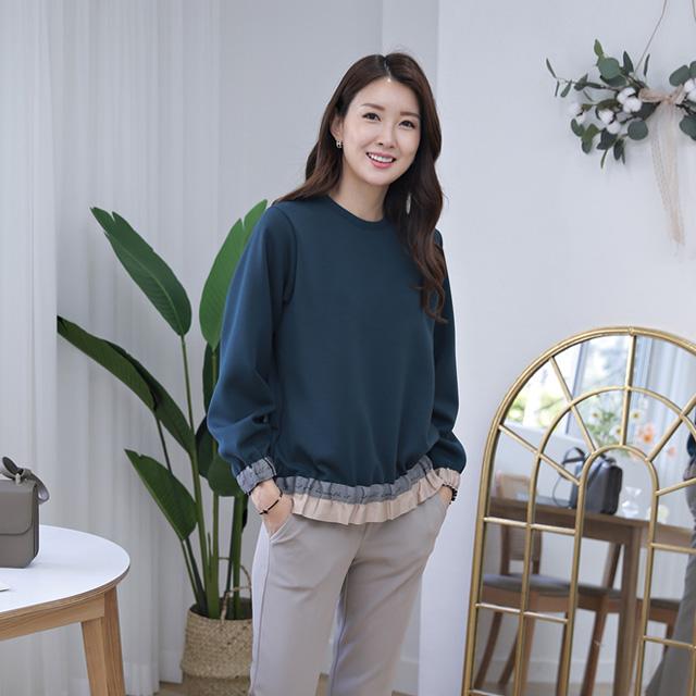 tiramisu-353끝단시보리포인트블라우스♡韓國女裝上衣